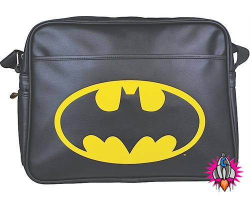 BATMAN BLACK LOGO DC COMICS RETRO SHOULDER MESSENGER SPORT GYM SCHOOL ...