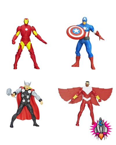 Official Marvel Avengers Assemble Mighty Battlers Action Figures