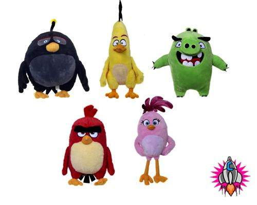 Angry birds the movie new 8 plush soft toy toys 5 to collect red bomb chuck pig ebay - Angry birds toys ebay ...