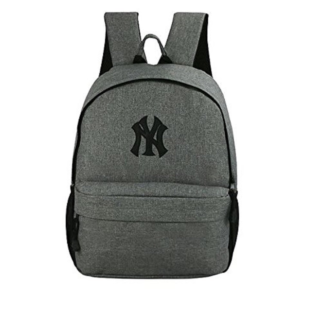 official new york yankees ny grey black trim backpack. Black Bedroom Furniture Sets. Home Design Ideas