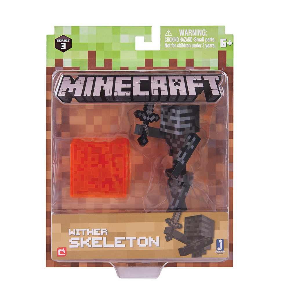 New Official Minecraft Wither Skeleton 3 Quot Action Figure