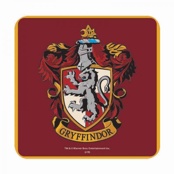Harry Potter Muppets: HARRY POTTER GRYFFINDOR HOUSE CREST TABLE DRINKS COASTER