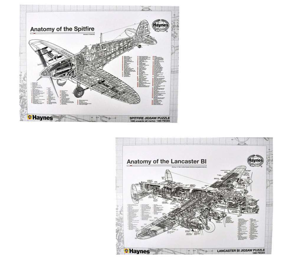 OFFICIAL HAYNES MANUAL ANATOMY OF A SPITFIRE LANCASTER BOMBER JIGSAW ...