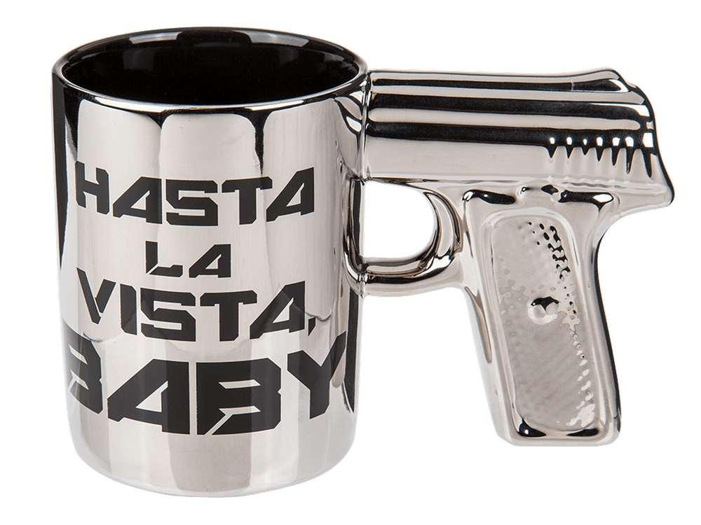 Revolver Gun Handle Hasta La Vista Baby Novelty Large