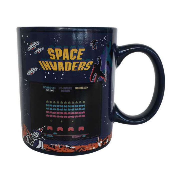 SPACE INVADERS RETRO ARCADE HEAT CHANGING COFFEE MUG | eBay