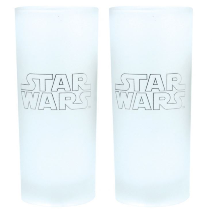 OFFICIAL STAR WARS R2D2 C3P0 SET OF TWO GLASSES TUMBLERS NEW IN GIFT BOX