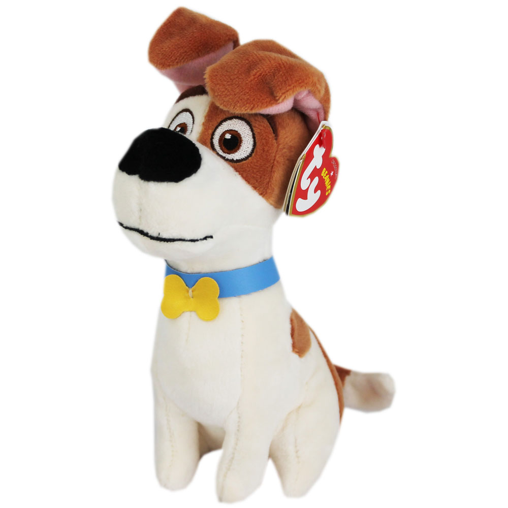 TY BEANIE BUDDY SECRET LIFE OF PETS MAX DOG PLUSH TOY WASHABLE STUFFED ANIMAL