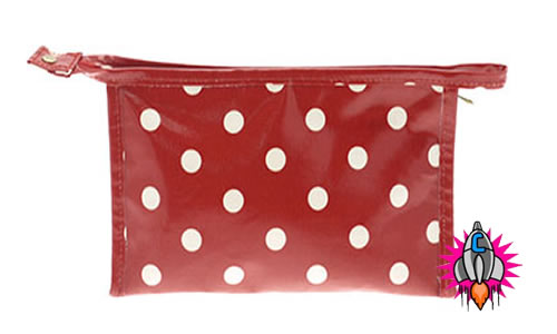 Bag cosmetic bag vintage oilcloth wash bag cosmetic bag bag measures