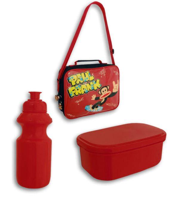 Paul Frank Bedroom In A Box: PAUL FRANK MONKEY SCHOOL LUNCH BAG BOX & DRINKS BOTTLE