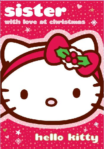 NEW HELLO KITTY SISTER WITH LOVE AT CHRISTMAS XMAS CARD ...  NEW HELLO KITTY...